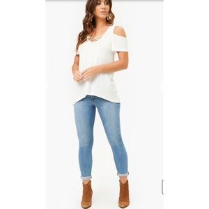 Tops - Caged High Low Swing Top